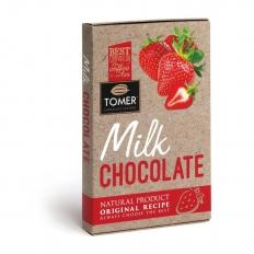TOMER Молочный шоколад с клубникой