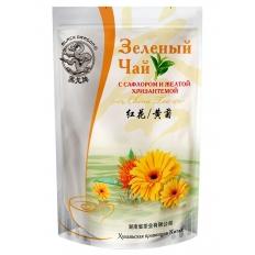 """Зеленый чай с сафлором и желтой хризантемой """"Черный дракон"""""""